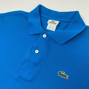 Lacoste Short Sleeve Blue Polo